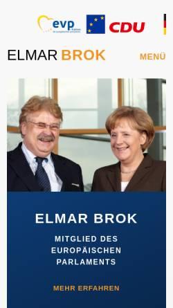 Vorschau der mobilen Webseite www.elmarbrok.de, Brok, Elmar (MdEP)