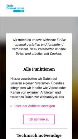 Vorschau der mobilen Webseite www.fdp-westfalen-sued.de, FDP Bezirksverband Westfalen-Süd