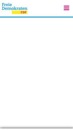 Vorschau der mobilen Webseite www.fdp-aachen.de, FDP Aachen-Stadt