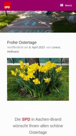 Vorschau der mobilen Webseite spd-aachen-brand.de, Jusos Aachen