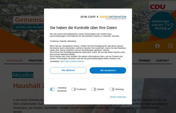 Vorschau von www.cdu-bestwig.de, CDU-Gemeindeverband