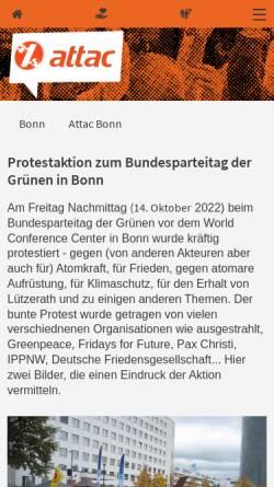 Vorschau der mobilen Webseite www.attac-netzwerk.de, Attac Bonn