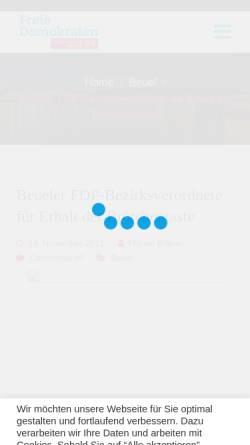 Vorschau der mobilen Webseite www.fdp-beuel.de, FDP Bonn-Beuel