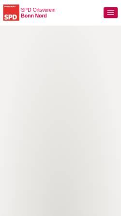 Vorschau der mobilen Webseite www.spd-bonn-nord.de, SPD-Ortsverein Bonn-Nord