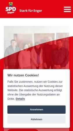 Vorschau der mobilen Webseite spd-enger.de, SPD-Stadtverband Enger