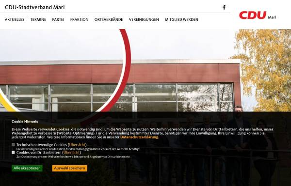 Vorschau von www.cdu-marl.de, CDU-Stadtverband Marl, Westfalen