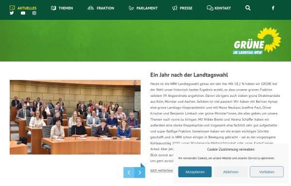 Vorschau von gruene-fraktion-nrw.de, Bündnis 90/Die Grünen im Landtag NRW