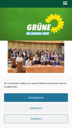 Vorschau der mobilen Webseite gruene-fraktion-nrw.de, Bündnis 90/Die Grünen im Landtag NRW