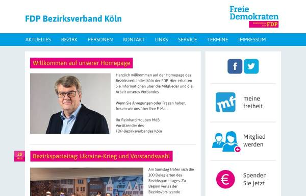 Vorschau von www.fdp-bezirksverband-koeln.de, FDP Bezirksverband Köln