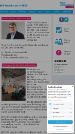 Vorschau der mobilen Webseite www.fdp-bezirksverband-koeln.de, FDP Bezirksverband Köln