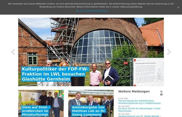 Vorschau von www.fdp-fw-westfalen.de, FDP-Fraktion beim Landschaftsverband Westfalen-Lippe (LWL)