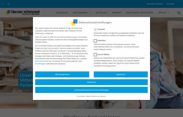 Vorschau von www.lm-nrw.de, Liberaler Mittelstand Landesverband Nordrhein-Westfalen