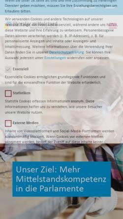 Vorschau der mobilen Webseite www.lm-nrw.de, Liberaler Mittelstand Landesverband Nordrhein-Westfalen