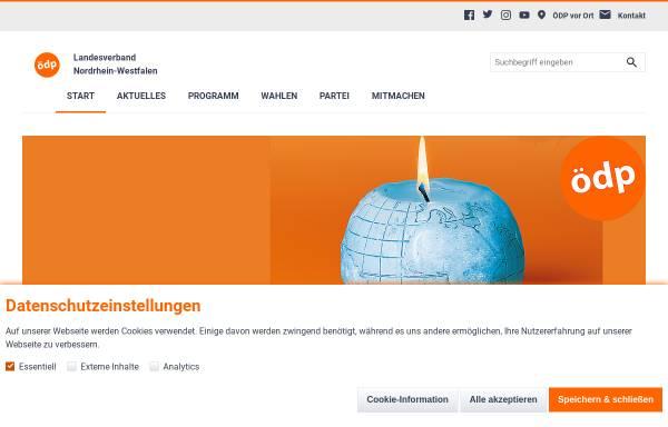 Vorschau von www.oedp-nrw.de, ÖDP-Landesverband Nordrhein-Westfalen