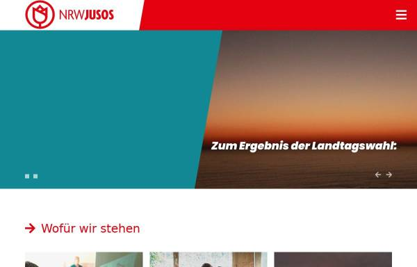 Vorschau von www.nrwjusos.de, Jusos Nordrhein-Westfalen