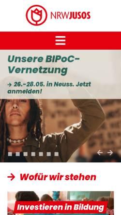 Vorschau der mobilen Webseite www.nrwjusos.de, Jusos Nordrhein-Westfalen