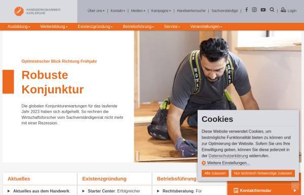 Vorschau von www.hwk-karlsruhe.de, Handwerkskammer Karlsruhe
