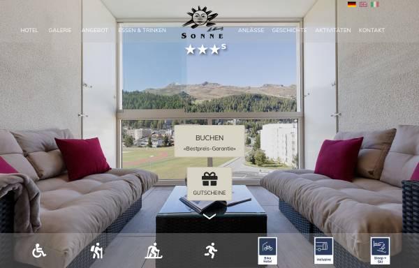 Vorschau von www.sonne-stmoritz.ch, Hotel Sonne