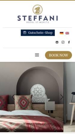 Vorschau der mobilen Webseite www.steffani.ch, Hotel Steffani