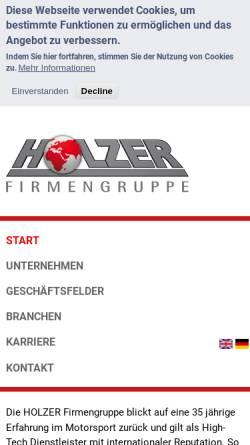 Vorschau der mobilen Webseite www.am-holzer.de, Holzer Motorsport