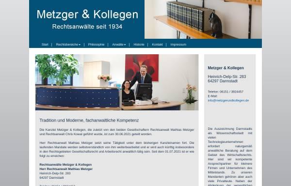 Vorschau von www.metzgerundkollegen.de, Metzger & Kollegen, Rechtsanwälte
