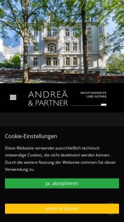Vorschau der mobilen Webseite www.rechtsanwalt-wiesbaden.de, Andreä, Pfeiffer, Rosa, Westenberger, Scholz, Kanzlei