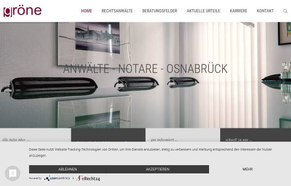 Vorschau von www.ra-groene.de, Anwaltssozietät Gröne & Cramer