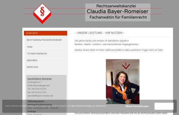 Vorschau von www.bayer-romeiser.de, Bayer-Romeiser Claudia