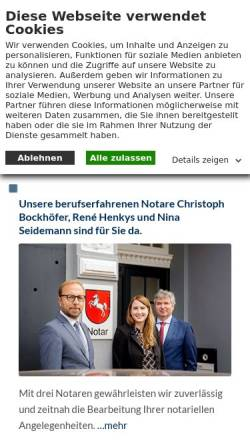 Vorschau der mobilen Webseite recht-leer.de, Dr. Fenner und Kollegen