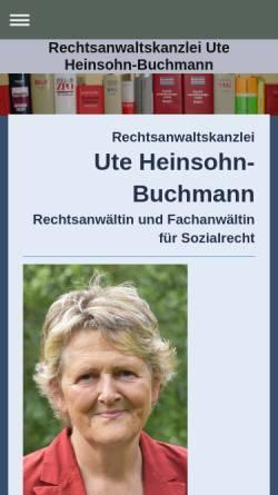 Vorschau der mobilen Webseite heinsohn-buchmann.de, Heinsohn-Buchmann Ute