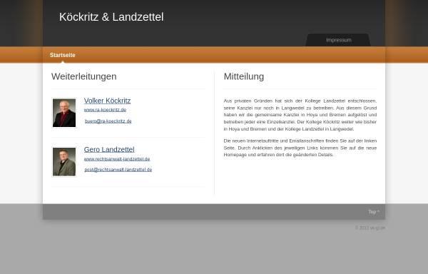 Vorschau von www.vk-gl.de, Köckritz und Landzettel