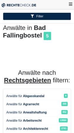 Vorschau der mobilen Webseite rechtecheck.de, Rechtsanwälte Buhl & Ahrens
