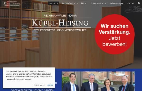 Vorschau von www.raekh.de, Rechtsanwälte Kübel-Heising