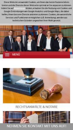 Vorschau der mobilen Webseite www.rechtsanwaltskanzlei-telscher.de, Telscher & Kollegen