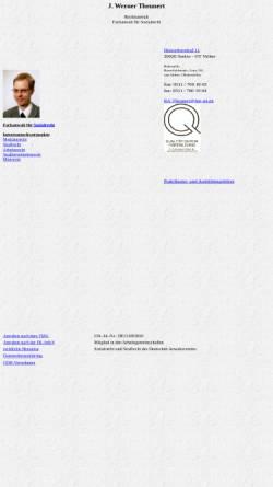 Vorschau der mobilen Webseite home.htp-tel.de, Theunert, J. Werner