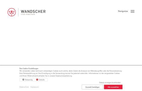 Vorschau von www.rae-wandscher.de, Wandscher & Partner - Rechtsanwälte in PartG und Notare
