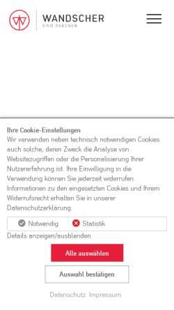 Vorschau der mobilen Webseite www.rae-wandscher.de, Wandscher & Partner - Rechtsanwälte in PartG und Notare