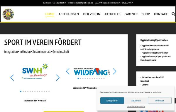 Vorschau von www.tsvneustadt.de, Turn- und Sportverein Neustadt in Holstein e.V.