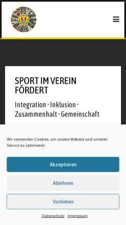 Vorschau der mobilen Webseite www.tsvneustadt.de, Turn- und Sportverein Neustadt in Holstein e.V.