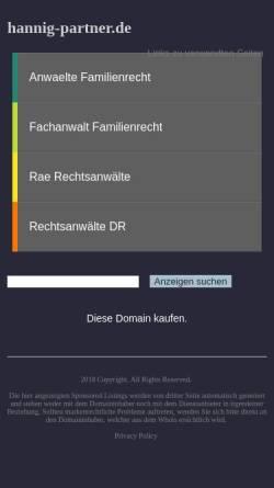Vorschau der mobilen Webseite hannig-partner.de, Rechtsanwalt Frank Hannig