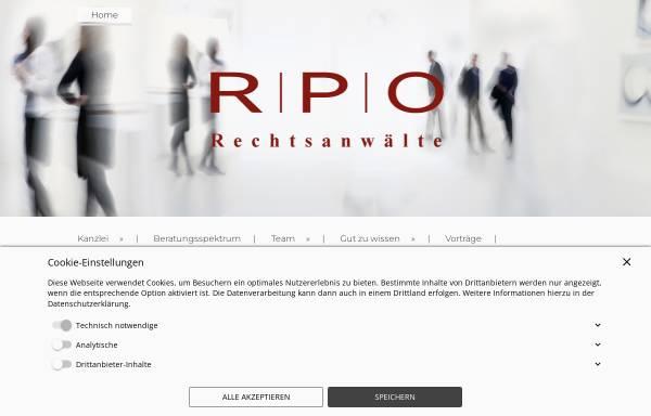 Vorschau von www.rpo-rechtsanwaelte.de, RPO Rechtsanwälte