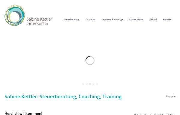 Vorschau von www.kettler-stb.de, Dipl.-Kauffrau Sabine Kettler - Steuerberaterin