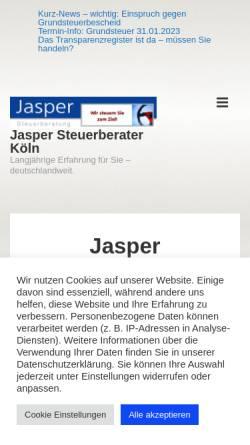 Vorschau der mobilen Webseite erfolgreich-wirtschaften.de, Jasper Steuerberatung - Lothar Th. Jasper