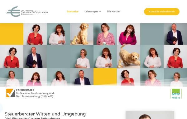 Vorschau von www.steuerberatung-broeckelmann.de, Steuerberater Carsten Bröckelmann