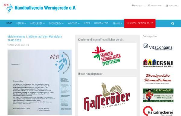 Vorschau von www.hv-wernigerode.de, HV Wernigerode