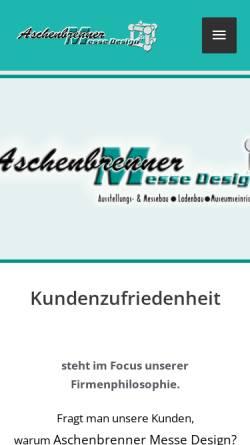 Vorschau der mobilen Webseite aschenbrenner-messe.rwa24.de, Aschenbrenner Messe Design