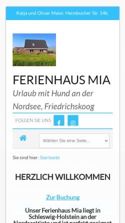 Vorschau der mobilen Webseite appenzeller-mia.de, Mia von der Friedlwiese