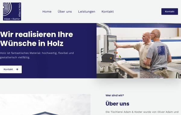 Vorschau von www.tischlerei-adam-koster.de, Tischlerei Adam und Koster