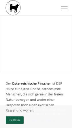 Vorschau der mobilen Webseite oe-pinscher-klub.at, Klub Österreichische Pinscher
