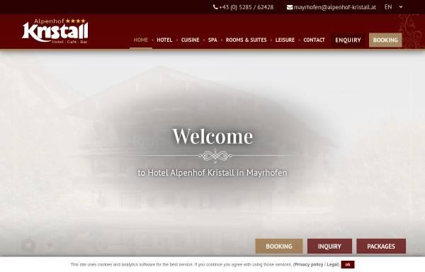Vorschau von www.alpenhof-kristall.at, Alpenhof Kristall
